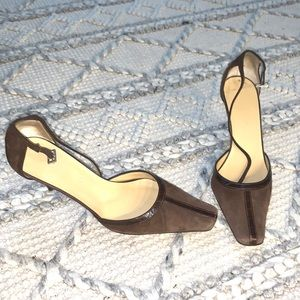 Max De Carlo Suede and Leather Heels 7.5